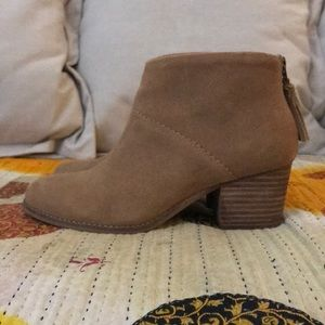 TOMS Brown Suede Booties